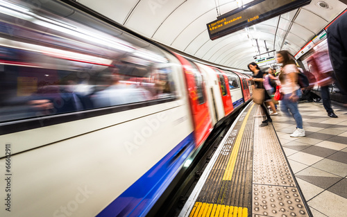 canvas print picture London Tube