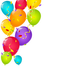 Color balloons background for Your design