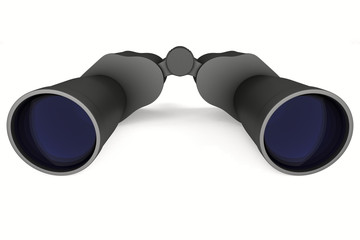 binocular on white background. Isolated 3d image