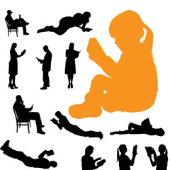 Vector silhouette of a people.
