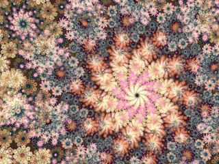 abstract fractal floral backgound