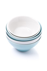 empty clean bowl, isolated