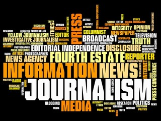 Journalist - word cloud illustration
