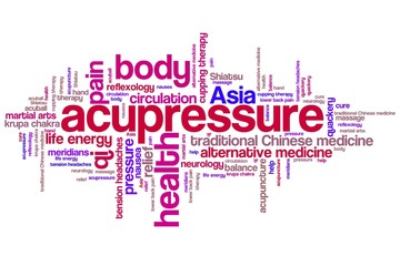 Acupressure - word cloud illustration