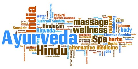 Ayurveda - word cloud illustration
