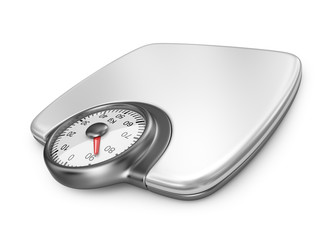 Floor weight scales. 3D Icon isolated on white background