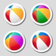 Beach ball stickers set