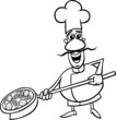 italian cook cartoon coloring page