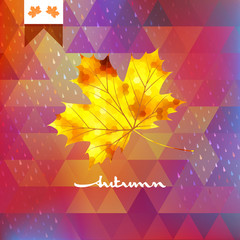 Autumn abstract geometric background. EPS 10