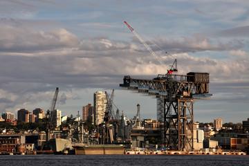 Hammerhead crane at Garden Island naval base