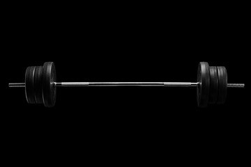 Studio shot of a barbell