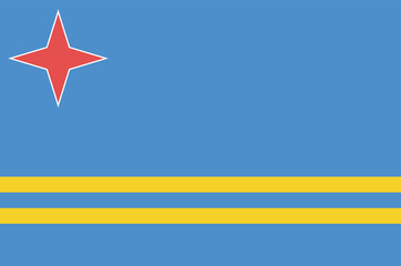 National flag of Aruba