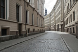 Opuszczona ulica miasta. Europa.