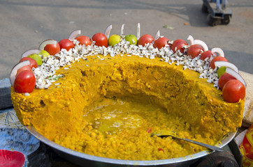 vegetarian street food in India