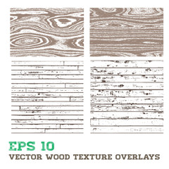 Wood Texture Overlay Design Elements