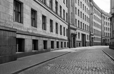 Deserted city street. Europe.