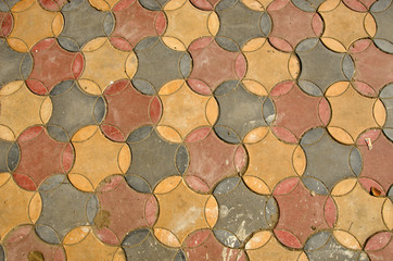 colorful ceramic tile floor background