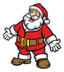 cartoon of santa claus