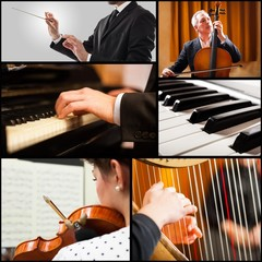 People playing musical instrument