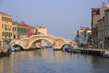 le canal de Cannaregio et le pont des trois arches
