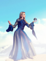 Fairy-tale – the sorceress with magic sphere