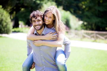 Portrait of a an happy couple