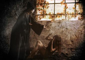 Beautiful prisoner and her mystic warder