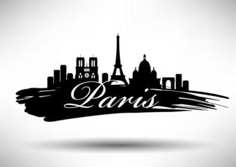 City of Paris Typographic Design