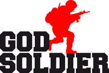 God Soldier Logo Design