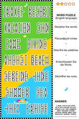 Word puzzle (English language), summer vacation themed