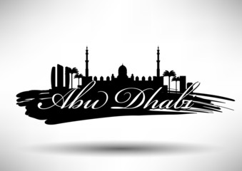 City of Abu Dhabi Typographic Skyline Design