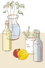 キッチンのインテリア/植物と野菜