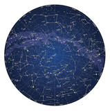 High detailed sky map of Northern hemisphere with names