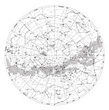 Fototapety High detailed sky map of Southern hemisphere with names