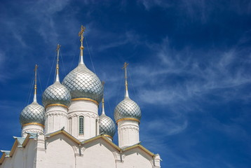 Silver Dome cathedral against the blue sky