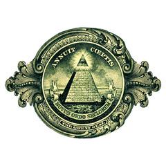 Dollar Symbol, Gottes Auge, Pyramide, Großes Siegel