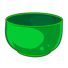 Green Bowl isolated illustration
