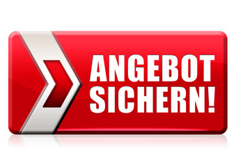 Angebot sichern! Button, Icon