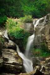 The waterfall.