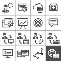 Outsourcing icons set - Simplus series
