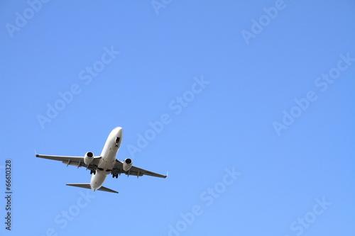 Poster 着陸する飛行機(B737)