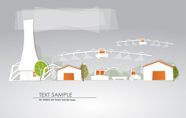 Organic farm illustration