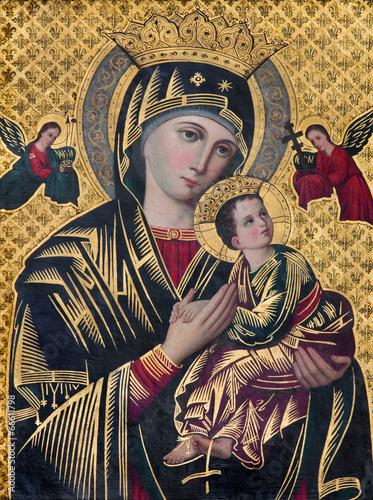 Zdjęcia na płótnie, fototapety, obrazy : Brugge - The Icon of Madonna in st. Giles church