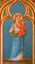 Brugge - Madonna peinture de l'autel latéral à r. Giles