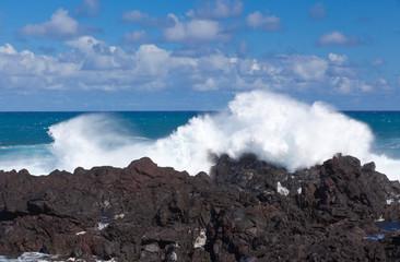 forte houle sur côte sud Réunion