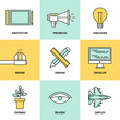 Studio product development flat icons