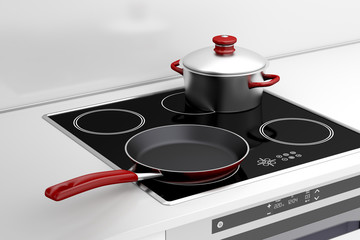 Frying pan and cooking pot