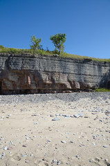 Limestone cliffs at the beach