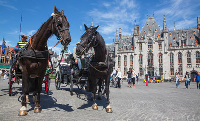 Brugge - The Carriage on the Grote Markt