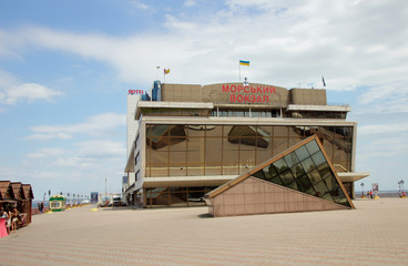 Maritime Station building in Odessa.